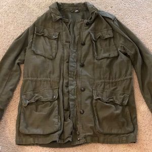 Free People Military Button Up Jacket
